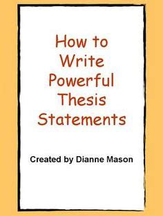 How to make my thesis statement stronger
